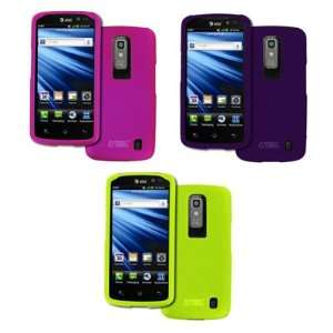 EMPIRE LG Nitro HD 3 Pack of Rubberized Hard Case Covers