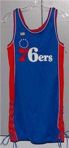 76ERS HARWOOD CLASSICS THROWBACK JERSEY DRESS WOMENS M