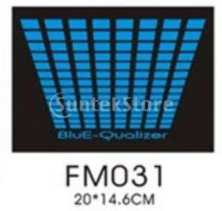 Black LED Sound activated EL Equalizer T shirt 00158 XL