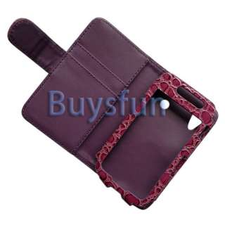 Wallet Leather Case w/ Card slots For Samsung Galaxy Ace S5830