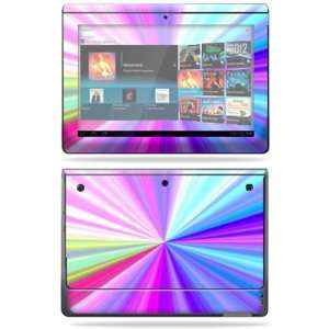 Vinyl Skin Decal Cover for Sony Tablet S Rainbow Zoom Electronics