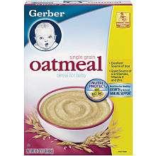 Gerber Foods Cereal for Baby   Oatmeal   16 Oz Box   Gerber Foods