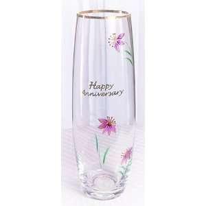 Fenton Artglass Happy Anniversary Bud Vase: Home & Kitchen