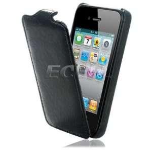 BLACK STONE PRINT LEATHER FLIP CASE FOR APPLE iPHONE 4 Electronics