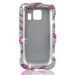 DIAMOND Zebra BLING Pink Case 4 LG OPTIMUS S V U Silver