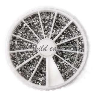 3600PCS Nail art acrylic Rhinestones for UV nails decoration wheel 1