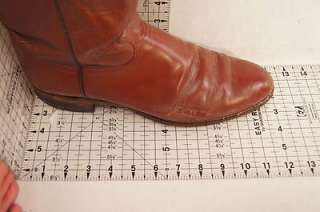 Justin Brown Leather 11 B (Narrow) Leather Mens Western Boots