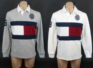 NEW NWT TOMMY HILFIGER MENS CLASSIC FIT LONG SLEEVE BIG LOGO POLO