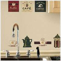 COFFEE HOUSE 31 BiG Wall Stickers Room Decor Decals TEA