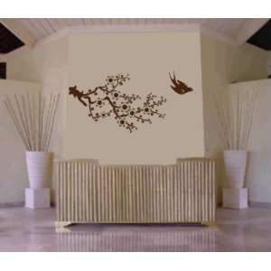 Branch with Bird Decal Sticker Wall Mural Art Graphic
