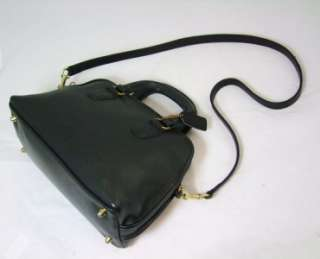 Vintage COACH Speedy Doctor Black Leather Satchel Purse, Fantastic Bag