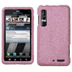 Pink Crystal Bling Case Phone Cover Motorola Droid 3