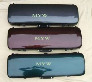 size carbon fiber violin case strong light green/red/black new