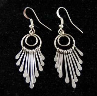 Dangle Earrings .925 Solid Navajo Native American Jewelry