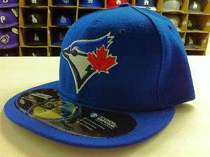 NEW ERA 59FIFTY MLB FITTED TORONTO BLUE JAYS GAME HOME ROYAL HATS CAPS