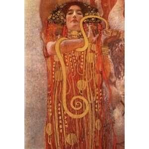 Klimt Canvas Art Repro Hygieia Part of Medicine