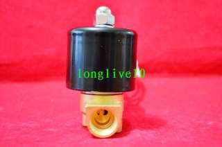 12V DC 3/8 Electric Solenoid Valve Water Gas Diesel New