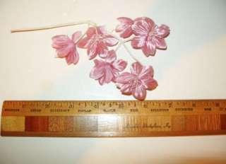 Vintage Vintage Millinery Flower Dusty Rose Pink Pearls