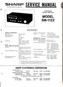 SHARP SM 1122 ORIGINAL SERVICE MANUAL FREE USA SHIPPING
