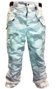 SNOW CAMO Snowboard Pants~Waterproof~CARGO~White Camouflage~2XL~2X~NEW