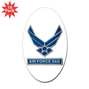 Sticker (Oval) (10 Pack) Air Force Dad