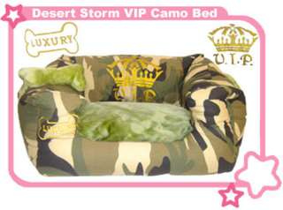 Designer Camouflage Pattern Canvas Dog Cat Pet Bed