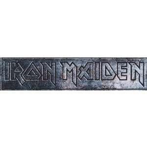 Iron Maiden   Engraved Logo   Decal   Sticker Automotive