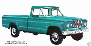 1965 JEEP GLADIATOR ~ TOWNSIDE PICKUP TRUCK