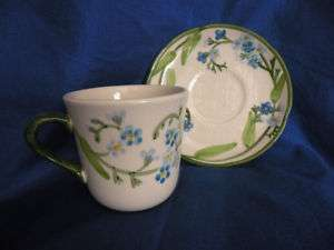 Franciscan Pottery Forget Me Not Coffee Cup & Saucer