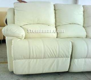 6PC NEW LEATHER SECTIONAL SOFA 2 RECLINERS S318