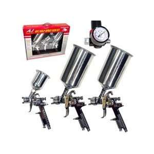 4 Piece Professional HVLP Spray Gun Kit