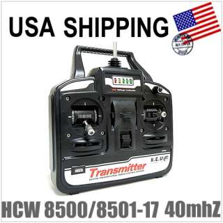 8501 RC Helicopter HCW 8500/8501 17 40MHz Transmitter Remote
