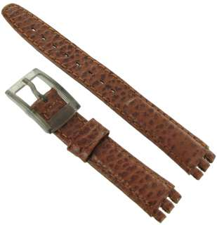 Leather Ladies Replacement Brown Watch Band Strap for Swatch