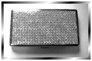 Quality~ Crystal Rhinestone Cigarette Case Kings 100s White