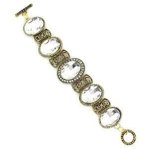 Metal; Clear Gemstones And Rhinestones; Toggle Clasp Closure Jewelry