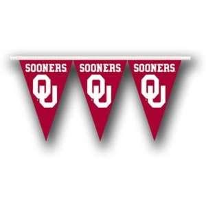 Oklahoma Sooners OU NCAA 25ft Pennant Banner Flags