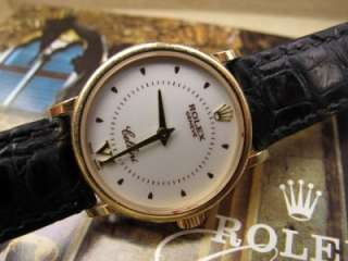 1999 Rolex Cellini Classic Ladys Watch 18kt Yellow Gold White Dial
