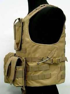 US Molle Combat Assault Plate Carrier Vest Coyote Brown