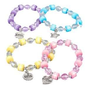 Best Friend Charm Beaded Bracelets (1 dz) Toys & Games