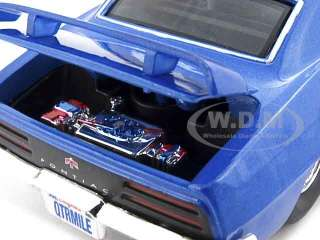 1969 PONTIAC FIREBIRD BLUE PRO STREET 1:24 DIECAST CAR