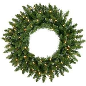 ft. Christmas Wreath   Classic PVC Needles   Camdon Fir   Prelit