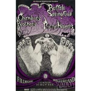 Buffalo Springfield Poster From Fillmore Auditorium (San