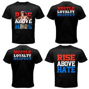 RISE ABOVE HATE John Cena WWE Man Black 2 SIDE T Shirt Size S   3XL