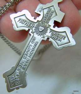 Pure Sterling Silver Pardon Crucifix Cross Jesus Sacred