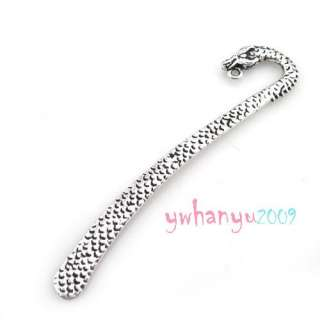 Tibetan Silver Tone Alloy Beading Bookmark Findings 120mm 124mm Carved