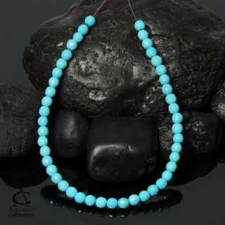 Strand SLEEPING BEAUTY TURQUOISE 4 mm Faceted BEADS 7+