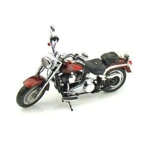 2010 Harley Davidson FLSTF Fat Boy 1/12 Candy Root Beer