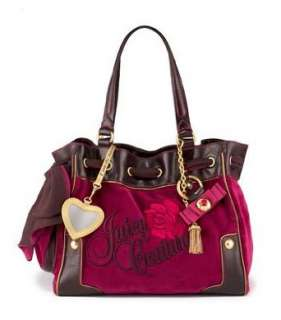 Juicy Couture Rose Velour Daydreamer Bag Grappa Clothing