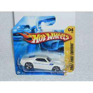 Hot Wheels White 69 Ford Mustang 2007 First Editions 4/36