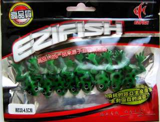 8x Bass Trout Muskie Soft Fishing Baits Frogs Lures 1 3/4 Green NEW